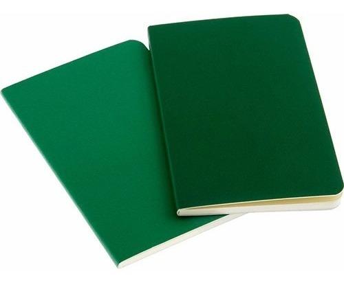 caderno moleskine volant - pautado - de bolso - verde - 7849