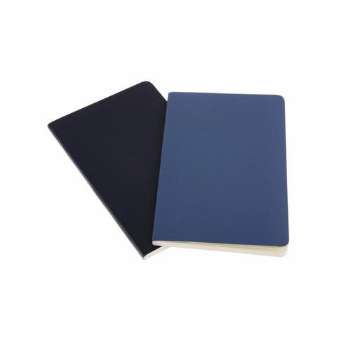 caderno moleskine volant - sem pauta - de bolso - azul 8596