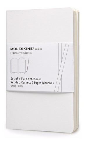 caderno moleskine volant - sem pauta - de bolso - branco 509