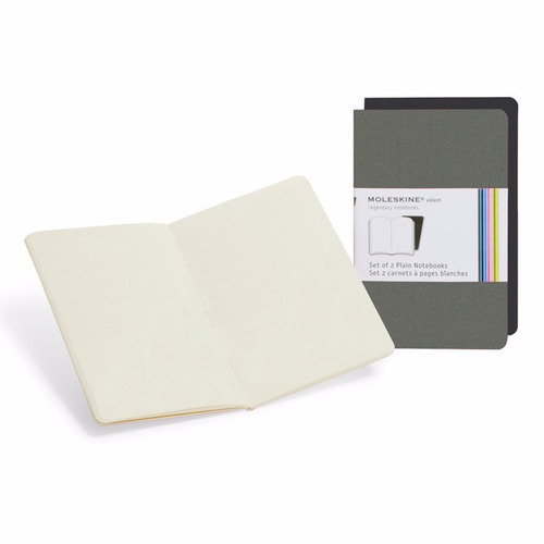 caderno moleskine volant - sem pauta - de bolso - cinza 3353