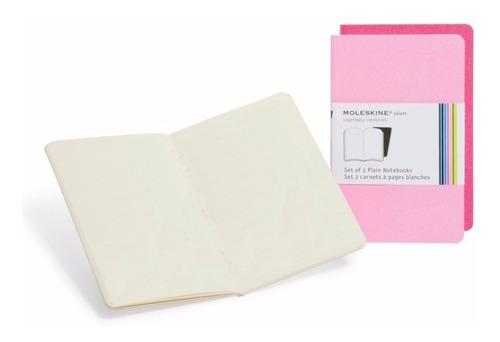 caderno moleskine volant sem pauta de bolso - rosa - 8718