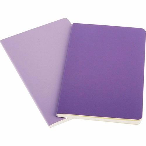 caderno moleskine volant sem pauta de bolso - violeta - 3360