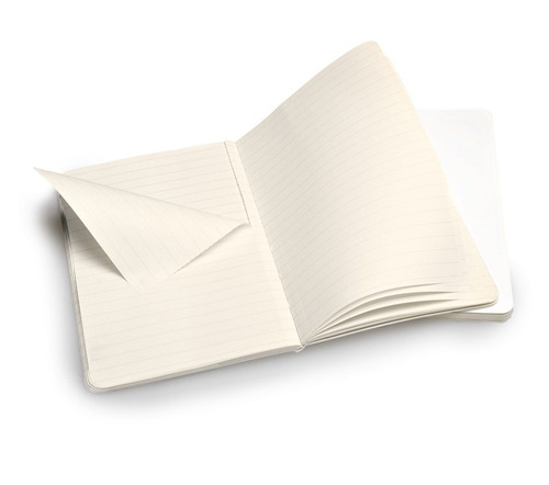 caderno moleskine volant - x small - pautado - branco 448