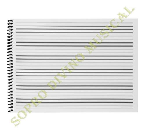 caderno música pautando as sete