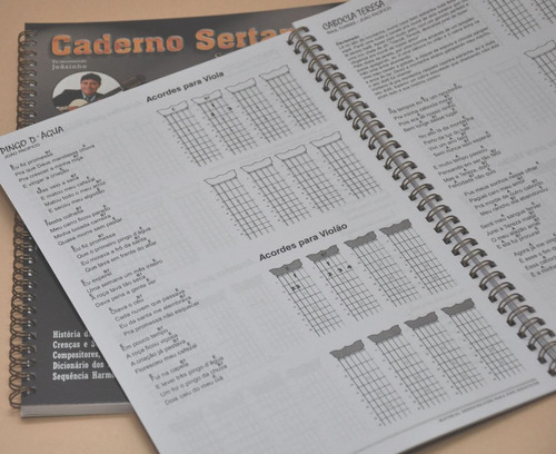 caderno sertanejo letras, cifras viola e violao vol. 1 e 2