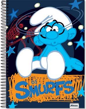 caderno smurfs