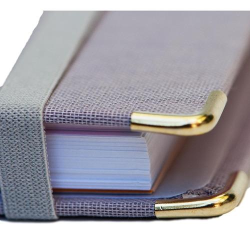 caderno system flex coleção cotton lilás - ótima
