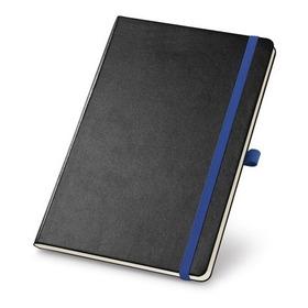 Caderno Tipo Moleskine Com Pauta E Bolso - 1 Unidade