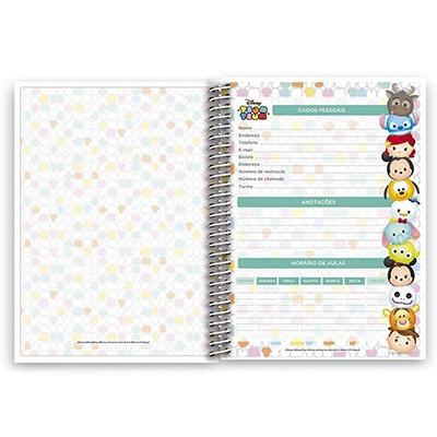 caderno universitário 1 matéria 96 folhas tsum tsum