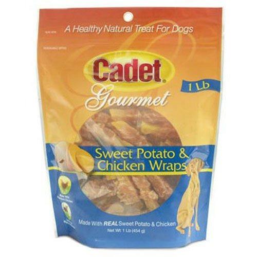 cadet pollo y perro de la patata dulce wraps, 14 oz.