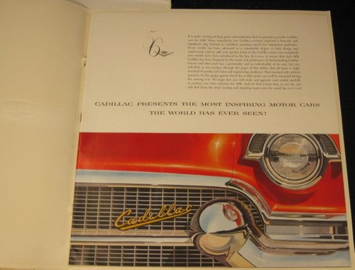 cadillac 1956 catálogo color prestige dealer sales brochure