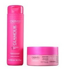 cadiveu kit glamour shampoo rubi 250ml & mask 200ml