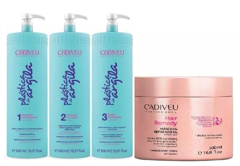 4058197e4 Cadiveu Plástica De Argila Kit + Hair Remedy (4produtos) - R  230
