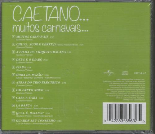 caetano veloso - muitos carnavais -   cd