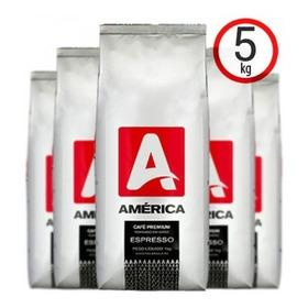 Café América Vending Em Grãos 5kg Blend Com Torra Média