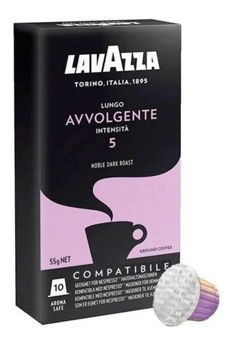 cafe capsulas avvolgente lavazza x10 unidades p/ nespresso