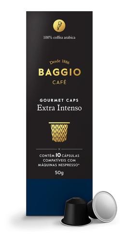 café cápsulas nespresso gourmet extra intenso baggio 10 un