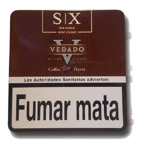 cafe cigarros lata x30 cigarritos vedado mini coffee puritos