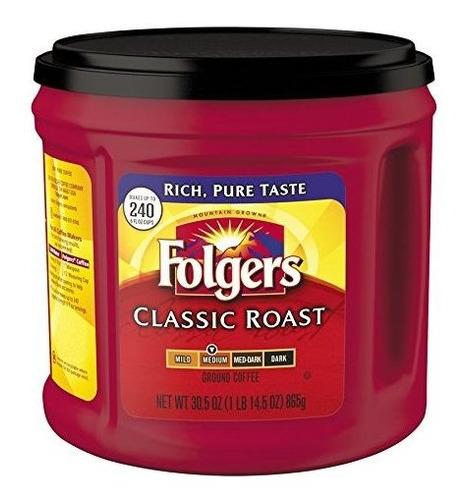 café clásico molido de la carne asada de folgers, asado