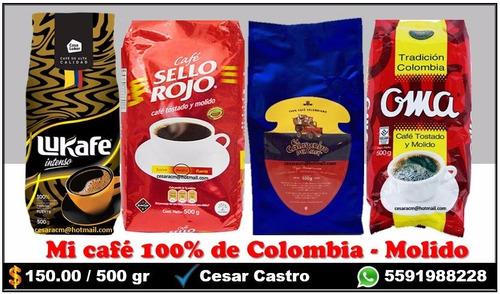 café colombiano 500gr molido - varias marcas