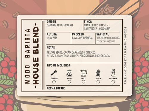cafe de especialidad tostado blend brasil colombia - 1/2 kg