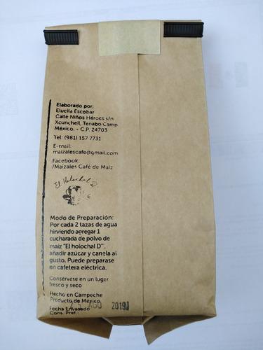 café de maíz de 250gr, alternativo al café tradicional.