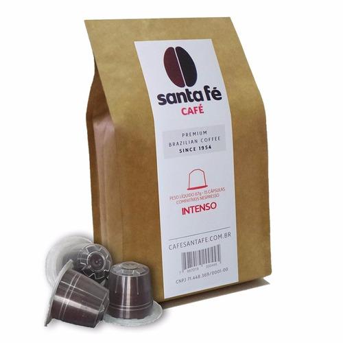 café em cápsulas santa fé intenso compatível nespresso c/15