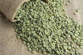 cafe en grano verde listo para tostar