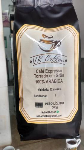 café expresso torrado em grão (artesanal) 100% arábica 500g