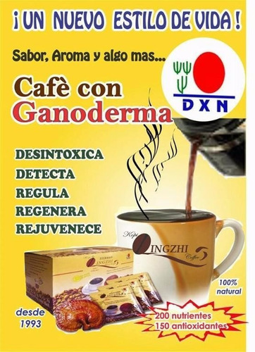 cafe ganoderma dxn  2 en 1
