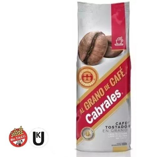 cafe grano cabrales al grano 1kg tostado