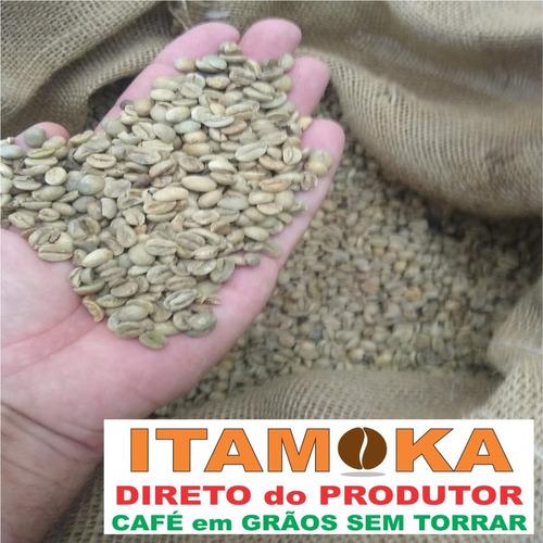 café grão cru 10 kg para torrar produtores rurais sul minas