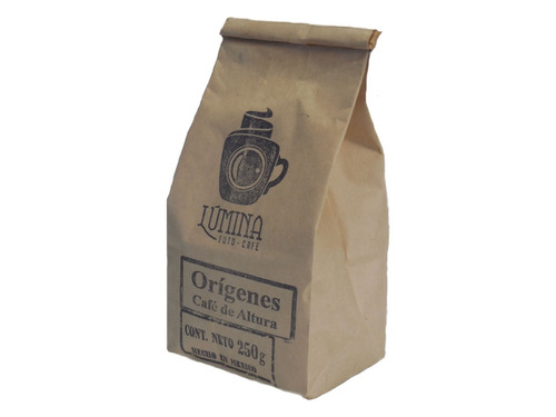 cafe lumina origenes arabica molido bolsa 250 gramos