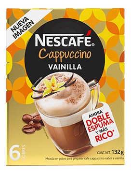 cafe nescafe cappuccino vainilla 6/22gr-(1 pieza)
