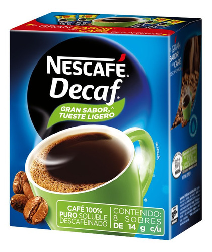 cafe nescafe decaf 8/14gr stick (1 pieza)