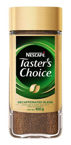 cafe nescafe tasters choice 100gr descafeinado-(1 pieza)