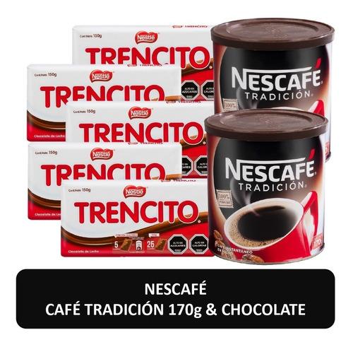 café nescafé tradición 170g y chocolate trencito pack