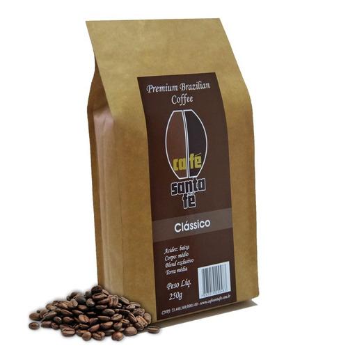 café santa fé clássico em grãos/moído 250 gramas