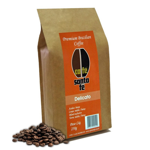 café santa fé delicato em grãos/moído 250 gramas