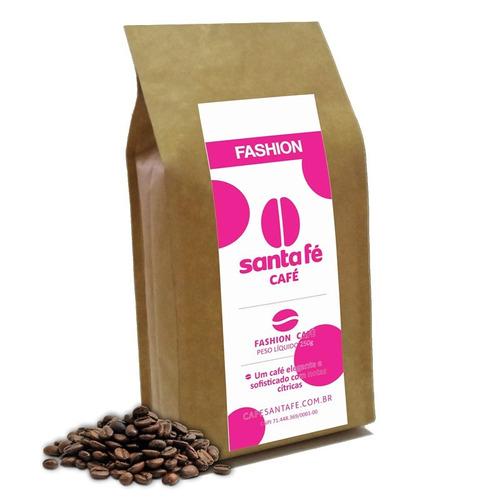 café santa fé fashion em grãos/moído 250 gramas
