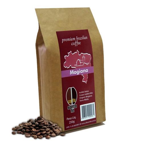 café santa fé mogiana em grãos/moído 250 gramas