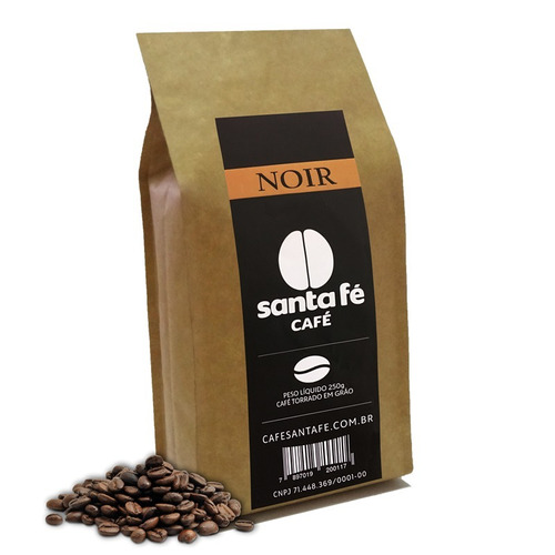 café santa fé noir em grãos/moído 250gr. com 06 pacotes
