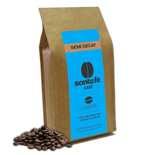 café santa fé semidecaf em grãos/moído 250gr.