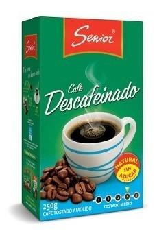 cafe senior descafeinado 250 gr