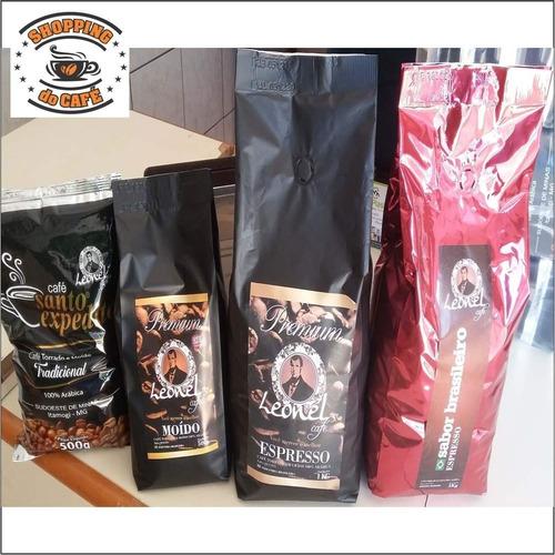 café torrado 5kg leonel expresso grãos certificado arábica