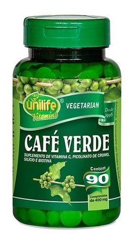 café verde 90 capsulas 400mg unilife - potente emagrecedor