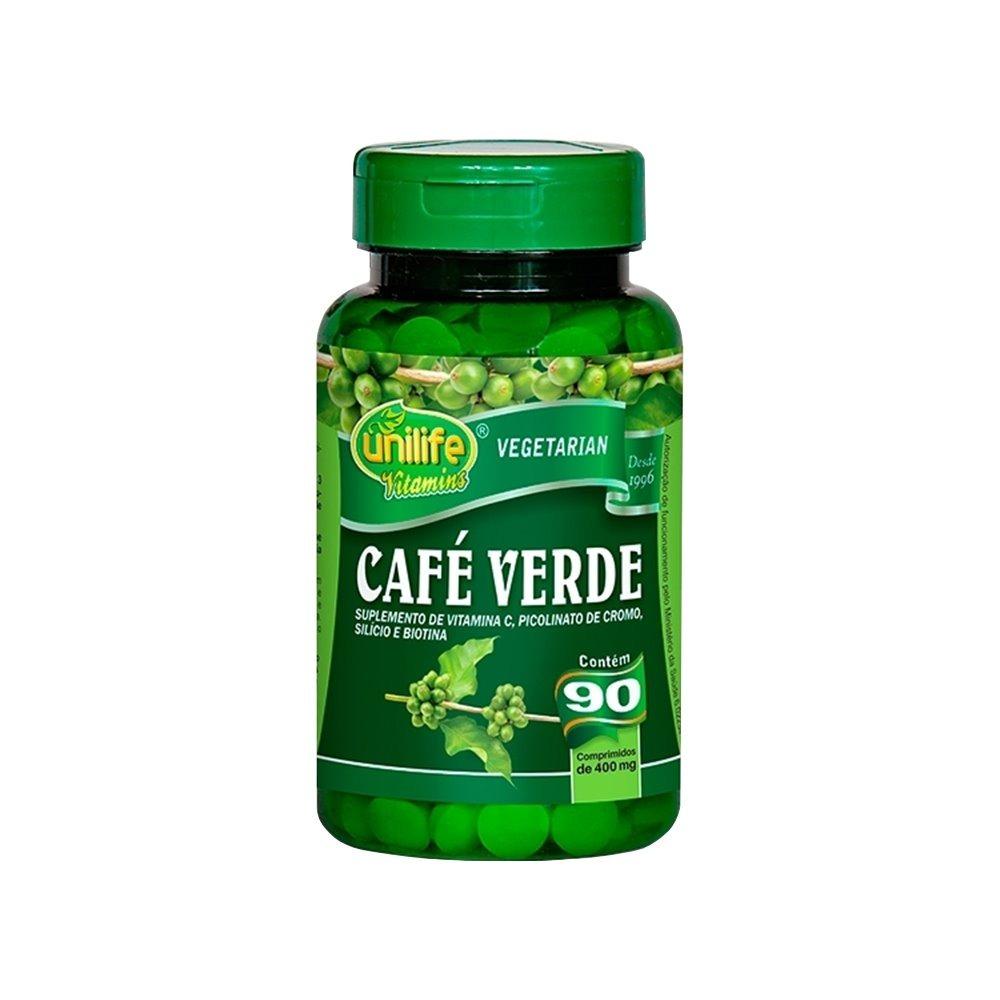 Café Verde 90 Comprimidos 400mg Unilife