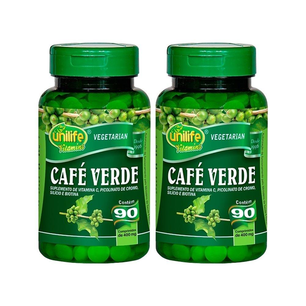 Café Verde 90 Comprimidos 400mg Unilife Kit 2 Unidades