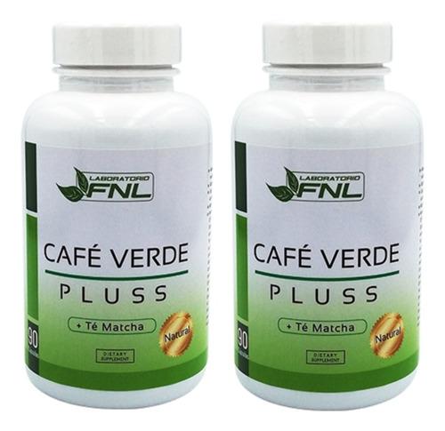 cafe verde pluss - te matcha, 180 capsulas, 2 frascos 90 c/u