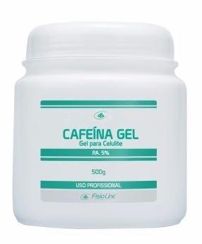 cafeína gel para celulite 5% - fisioline cosméticos 500gr
